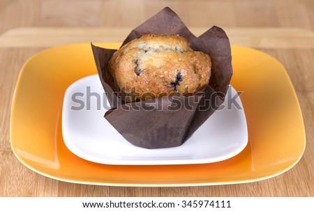 Fresh blueberry muffin - stock photo