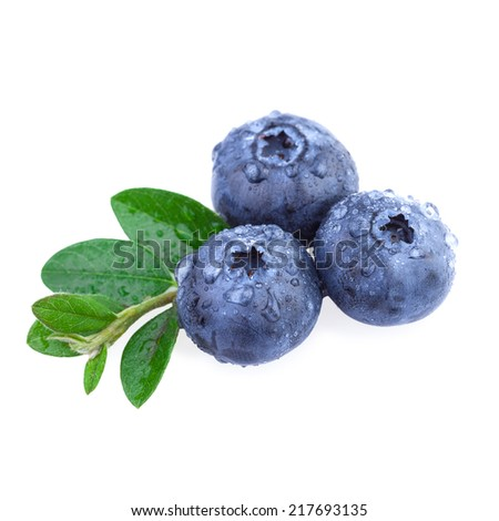 Fresh Blueberry with water droplets - stock photo