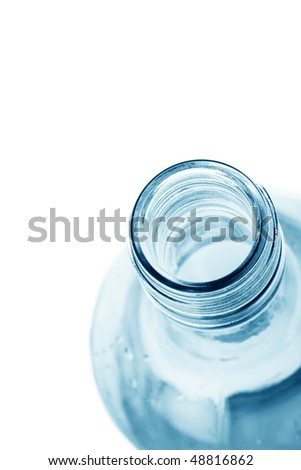 fresh bottled water with space for text