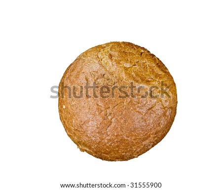 Fresh bread food isolated over white background