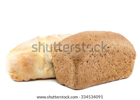 Fresh bread isolated on white background.