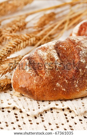 fresh bread on the table