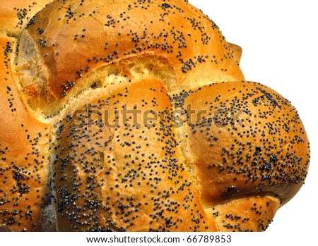 Fresh bread with poppy seeds