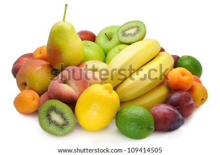 Fresh, bright fruit , healthy food - stock photo