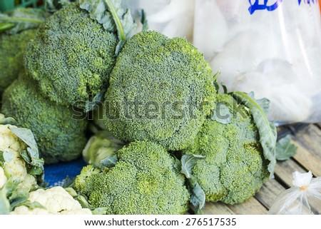 Fresh broccoli  - stock photo