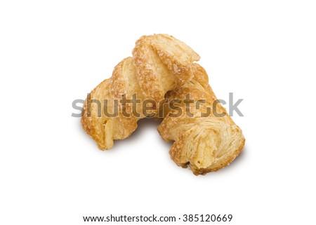 Fresh Bun isolated on white background - stock photo
