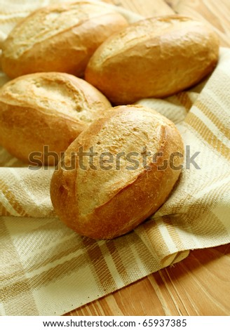 fresh buns - stock photo