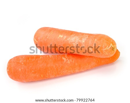 Fresh carrot isolated on white