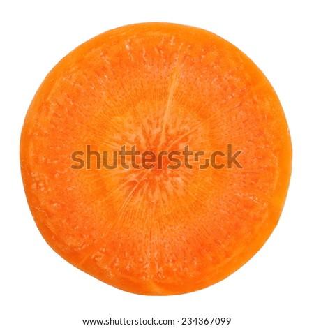 Fresh carrot slice on a white background   - stock photo