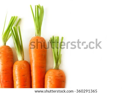 Fresh carrots - care about healthy nutrition - stock photo