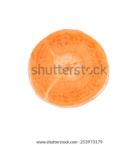 Fresh carrots on a white background - stock photo