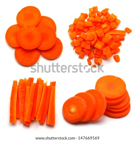 how to cut diced carrots