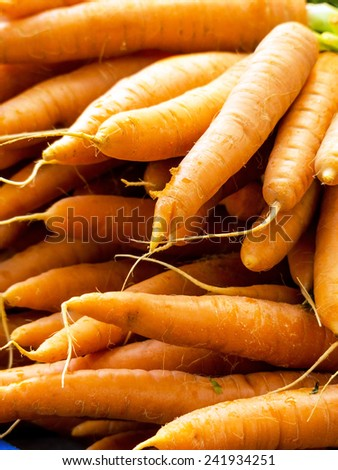 fresh carrots, symbolic photo for food, fresh, healthy food - stock photo