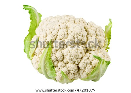Fresh cauliflower head