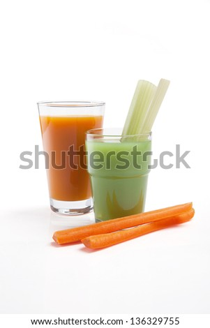 fresh celery and carrot juice