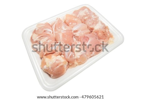 Fresh Chicken meat on white plate