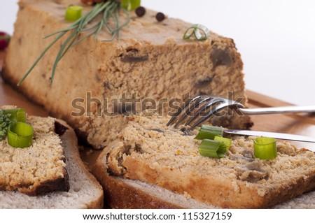 Fresh chicken pate - stock photo
