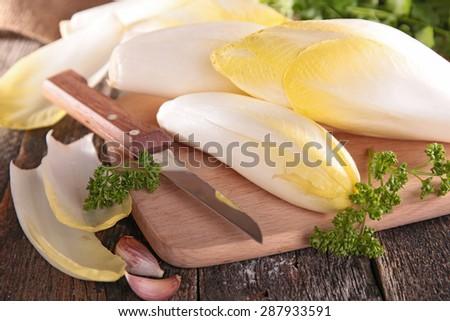 fresh chicory - stock photo