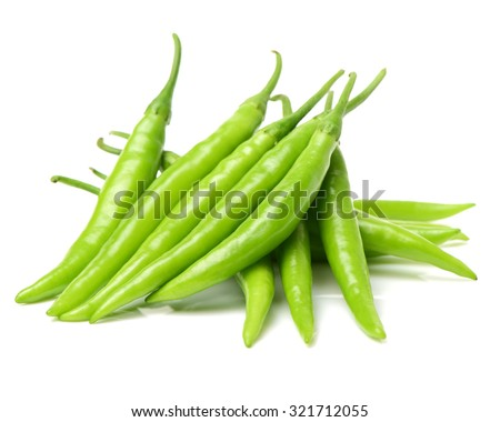 fresh chili on white background