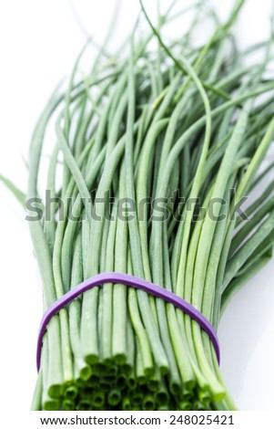 Fresh chive - stock photo