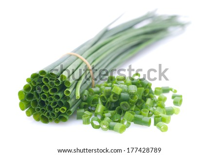 Fresh chives - stock photo