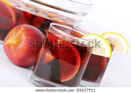 Fresh citrus sangria - stock photo