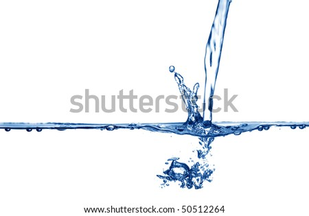 Fresh, clean water being poured. - stock photo