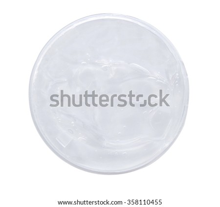 Fresh clear gel isolate on white. (clipping path) - stock photo