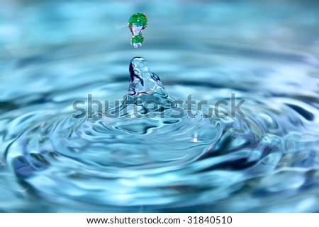 Fresh clear water. - stock photo