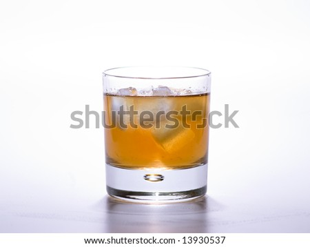 fresh cocktail a colour background