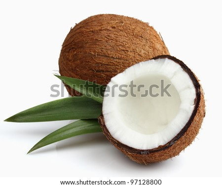 Fresh coconut. Use it for a health concept.