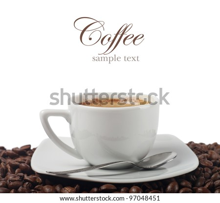 Fresh coffee - stock photo