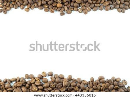Fresh coffee beans texture background. - stock photo
