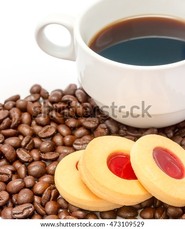 Fresh Coffee Drink Showing Delicious Brown And Cafe
