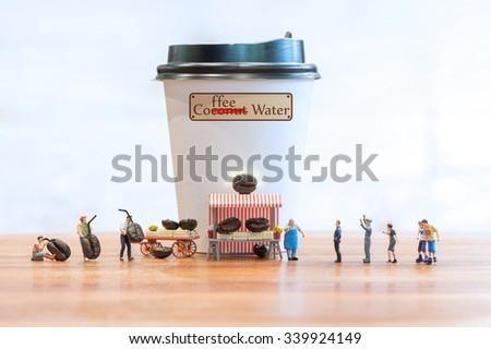 Fresh Coffee Water - stock photo