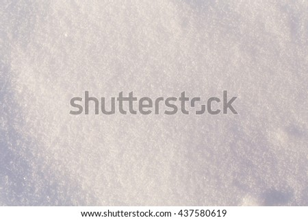 Fresh cold white snow texture for the background - stock photo