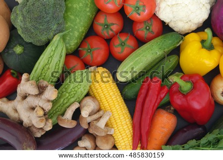 Fresh colorful vegetables background