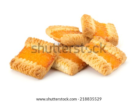 Fresh cookies isolated on white background