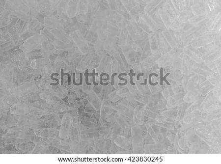 fresh cool ice cube background. - stock photo