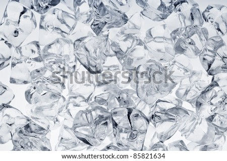 Fresh cool ice cube background or wallpaper - stock photo
