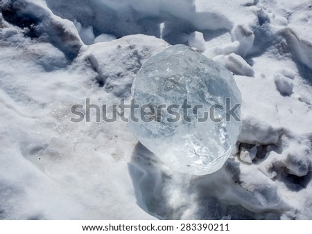 fresh cool ice winter - stock photo