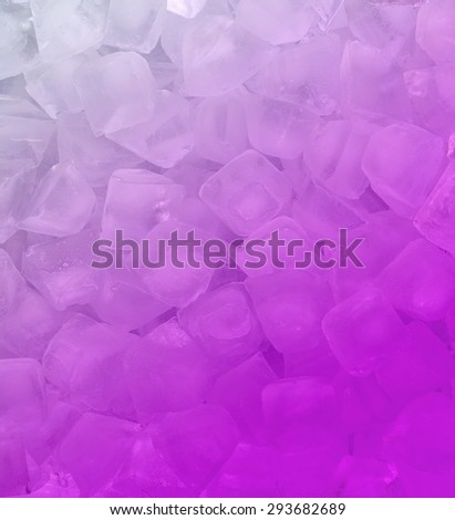 fresh cool pink ice cube background - stock photo