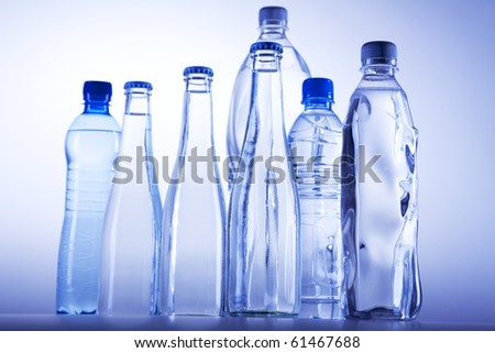 Fresh cool water on light background! - stock photo
