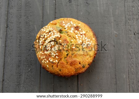 Fresh corn bread  - stock photo