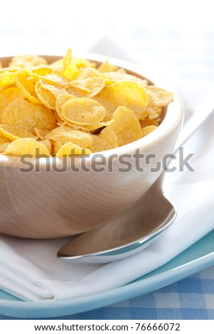 fresh cornflakes in a bowl