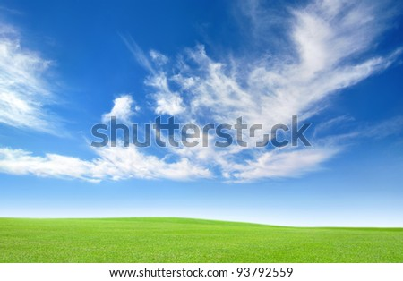 Fresh country air, blue skies, and open space - stock photo