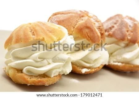 Fresh Cream Puffs - stock photo