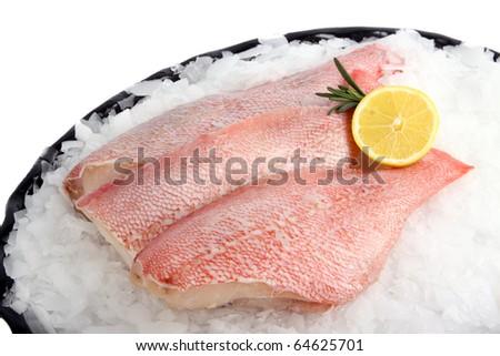 Fresh crude fish fillet - stock photo