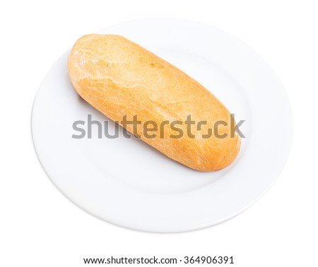 Fresh crunchy bread. Isolated on a white background.