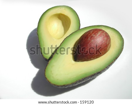 Fresh cut avocado, ready to be eaten!